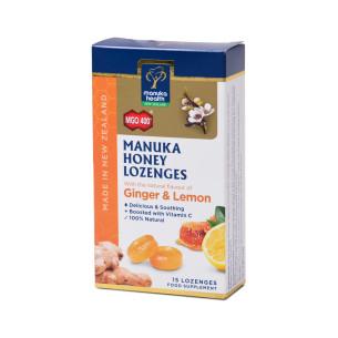 Manuka MGO™ 400+ mézes cukorka gyömbér és citrom ízesítéssel