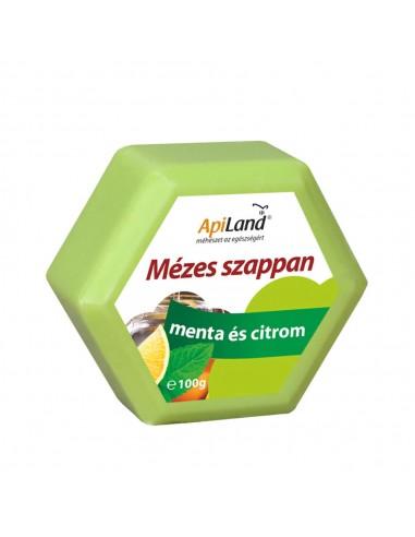 Mézes, mentás és citromos szappan