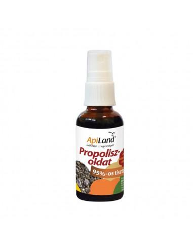 95%-os tisztaságú propoliszos szorófejes üvegcsében